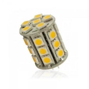 LED žárovka 5,4W 27xSMD5050 G4 450lm 12V DC STUDENÁ